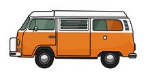 VW T2 Westfalia Orange