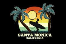 Santa Monica California Silhouette Design