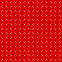 Seamless Red And White Polka Dot Pattern Background