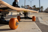 skateboard on the street