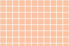 Seamless Pattern, Orange Tile Mosaic, Orange Fabric, Peach Colour Background With Squares