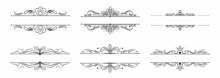 Divider Decorative Calligraphic Ornament Collection