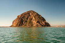 Morro Rock, A Volcanic Plug In Morro Bay, Pacific Coast, California