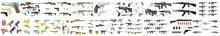 Set Icons Of Weapons, Weapons Ammunition Icon Set, Simple Style, Illustration Set - Weapons - Pistols, Sub Machine Guns, Assault