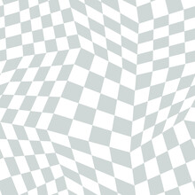 Seamless Pattern Optical Illusion Chessboard Background Vector