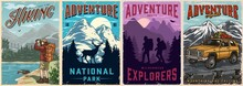 Camping And Hiking Vintage Posters