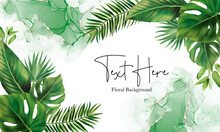Hand Drawn Green Leaves Background Design