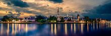 Panorama Of Ulm By Dusk