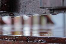Rain On A Wooden Deck