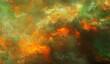 Leinwandbild Motiv Fiery inferno, greenish-tint