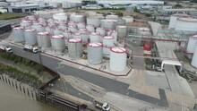 Stolthaven Dagenham  Essex UK Storage Aerial Drone Footage