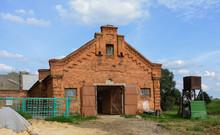 The Boguslavsky Estate In Gomel. Stables Building. Belarus. Barn. Service Building