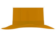 Brown Retro Hat. Vector Illustration