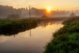 Fototapeta Na sufit -  Poranny spacer doliną rzeki Supraśl, Podlasie, Polska