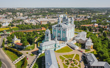 Aerial View Of Assumption Cathedral In Smolensk City