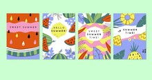Hand Drawn Summer Cards Collection_3