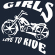 girls love to r e dark mens tipped polo design vector illustration print poster wall art canvas