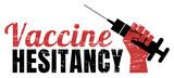 Fototapeta Młodzieżowe - Distressed vaccine hesitancy banner