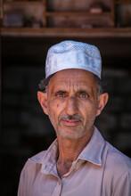 Portrait Muslim Man In Srinagar, Kashmir, India