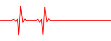 Heart Rate Monitor Pulse Line Vector Isolated On Transparent Background. Heart Rate Pulse Rhythm Red Line Illustration.