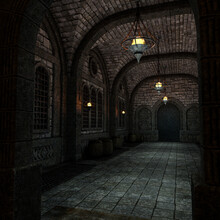 3D-illustration Of A Mystical Dangerous Place And Dungeon