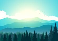 Sunrise At The Mountain