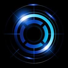Abstract Vector Of Blue Circles