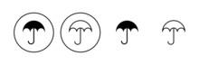 Umbrella Icon Set. Umbrella Sign Icon