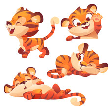 Cute Baby Tiger Character Sleep Peep