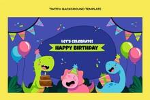 Hand Drawn Childlike Birthday Twitch Background
