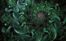 Abstract Fantasy Swirly Ornament For Greeting Cards Or T-shirts