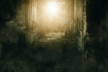 Abandoned House With Sunlight Enter Through Window