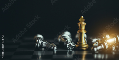 Chess game. Business, competition, strategy, leadership and success concept.