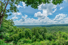 Pha Sawoey Viewpoint, Somdet District, Kalasin Province, Thailand, Asia, Asian