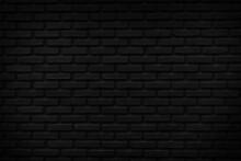 Vintage Black Brick Wall Texture Background