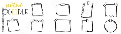 Fotografia Notepaper in sketch