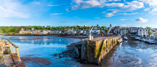 A View Across The Harbour And Town Of Queensferry, Scotland On A Summers Day