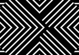 Composition of black and white shapes on black background