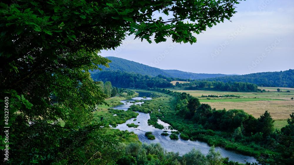 Rzeka San w salonie