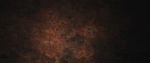 Dark Grunge Background With Scratches, Scary Red Dark Walls, Concrete Cement Texture For Background