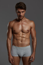 Young European Man With Naked Sportive Torso