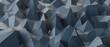 Leinwandbild Motiv Geometric blue ice low poly background