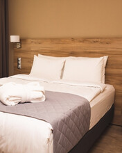 Modern Hotel Room With King-size Bed