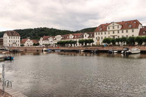 Obraz na plátně Bad Karlshafen; Blick über den Barockhafen
