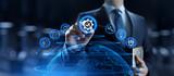 Fototapeta Kawa jest smaczna - Standard ISO quality control assurance standardisation certification.