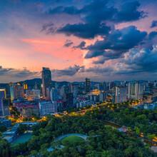 Guangzhou City At Dusk