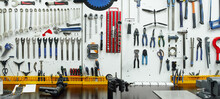 Collection Of Repair Tools On Wall