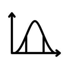 Unique Statistics Vector Glyph Icon