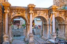Evening At Hadrian's Gate, Antalya, Turkey
