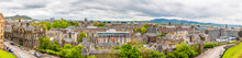 A Panorama View From The Castle Over The New Town In Edinburgh, Scotland On A Summers Day